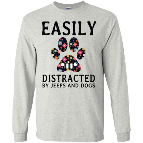 Easily Distracted by Jeeps and Dogs shirt - image 2326 500x500