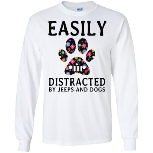 Easily Distracted by Jeeps and Dogs shirt - image 2327 500x500