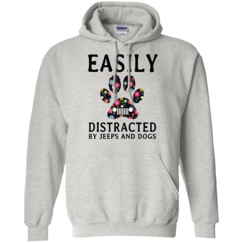 Easily Distracted by Jeeps and Dogs shirt - image 2328 500x500