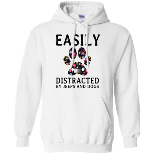 Easily Distracted by Jeeps and Dogs shirt - image 2329 500x500