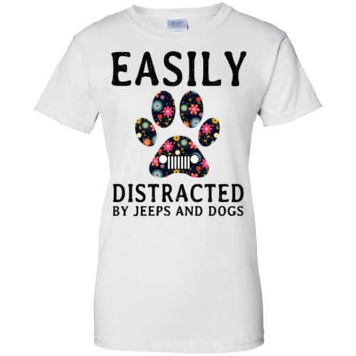 Easily Distracted by Jeeps and Dogs shirt - image 2331 500x500