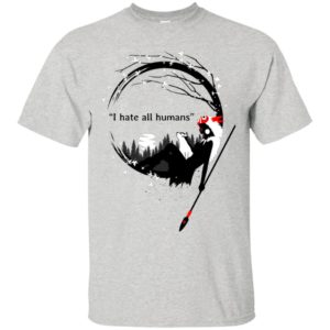 Princess Mononoke I hate all Humans shirt - image 3674 300x300