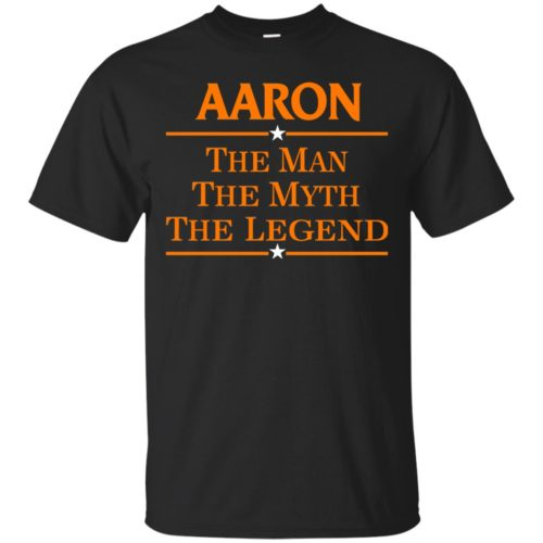 Aaron The Man The Myth The Legend Shirt - image 518 500x500
