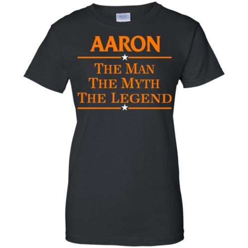 Aaron The Man The Myth The Legend Shirt - image 525 500x500