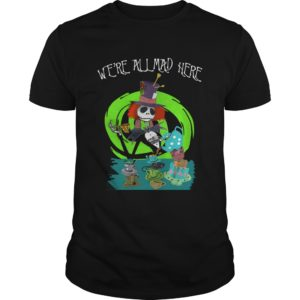 Jack Skellington We're all mad here shirt - Were All Mad Here Shirt 300x300