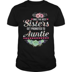 Only the best Sisters get Promoted to Auntie shirt - Only the best Sisters get Promote 300x300