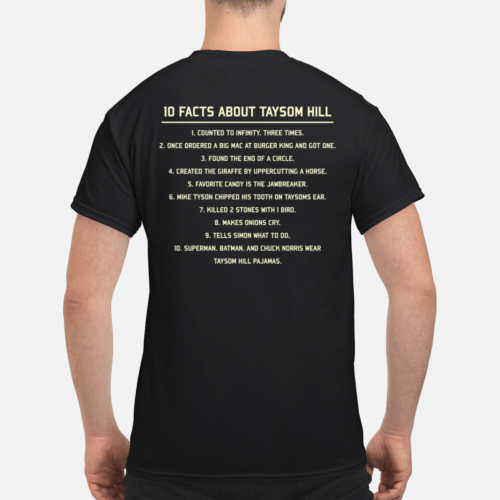 10 Fact about Taysom Hill shirt - 10 fact about taysom hill shirt men s t shirt black back 500x500