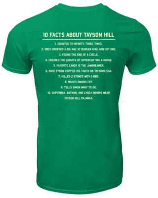 10 Fact about Taysom Hill shirt - 10 fact about taysom hill shirt men s t shirt irish green back 320x400