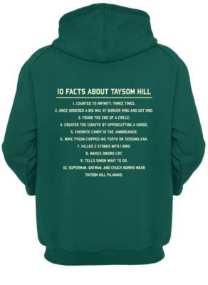 10 Fact about Taysom Hill shirt - 10 fact about taysom hill shirt unisex hoodie bottle green back 292x400