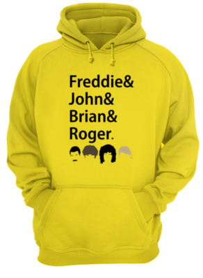 Freddies and John and Brian and Roger shirt - freddies and john and brian and roger shier unisex hoodie sun yellow front 292x400