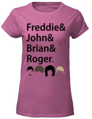 Freddies and John and Brian and Roger shirt - freddies and john and brian and roger shier women s t shirt azalea front 1 309x400