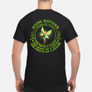 St Patricks day fairy I rish woman the soul of witch the fire of a lioness shirt - i rish woman the soul of witch the fire of a lioness shirt men s t shirt black back 1 300x300