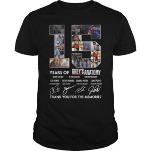 15 Years of Grey's Anatomy thank you for the memories shirt - 15 Years of Greys Anatomy thank you for the memories. 300x300