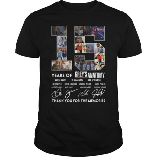 15 Years of Grey's Anatomy thank you for the memories shirt - 15 Years of Greys Anatomy thank you for the memories. 500x500
