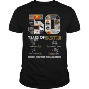 50 Years of Led Zeppelin Thank you for the memories shirt - 50 Years of Led Zeppelin Thank you for the memories. 300x300