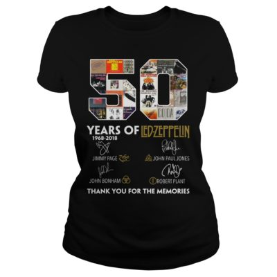 50 Years of Led Zeppelin Thank you for the memories shirt - 50 Years of Led Zeppelin Thank you for the memories.v 400x400