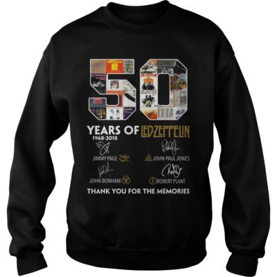 50 Years of Led Zeppelin Thank you for the memories shirt - 50 Years of Led Zeppelin Thank you for the memories.vvv  400x400
