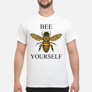Icestork merchandise store: Trendy and Unique gifts - bee your self shirt men s t shirt white front 1 300x300