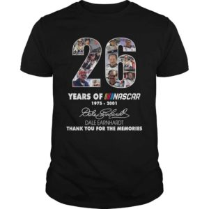 26 years of Nascar shirt, hoodie - 26 years of Nascar 1975 2001 thank you the memories shirt 300x300