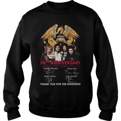 Queen 50th anniversary 1970-2020 thank you for the memories shirt - aaaa 400x400